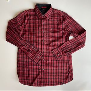 Victorinox Tailored Fit Button Down Check Shirt S
